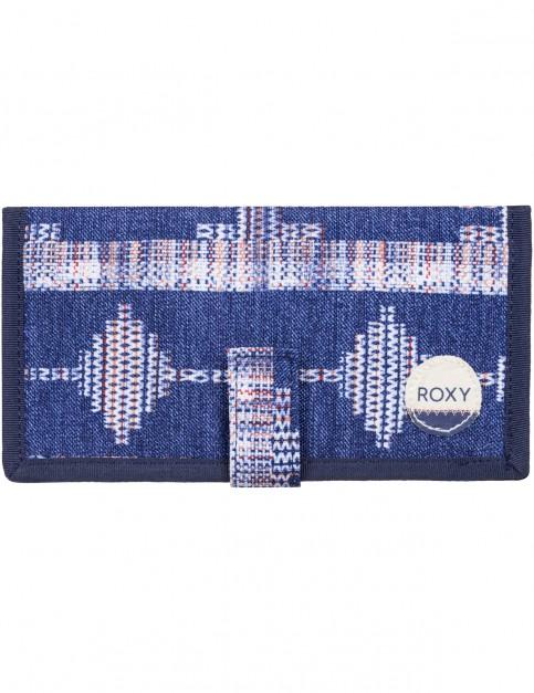Roxy Tropical Drift Polyester Wallet in Akiya Combo Blue Print