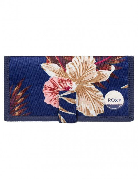 Castaway Floral Blue Print Roxy Tropical Drift Polyester Wallet