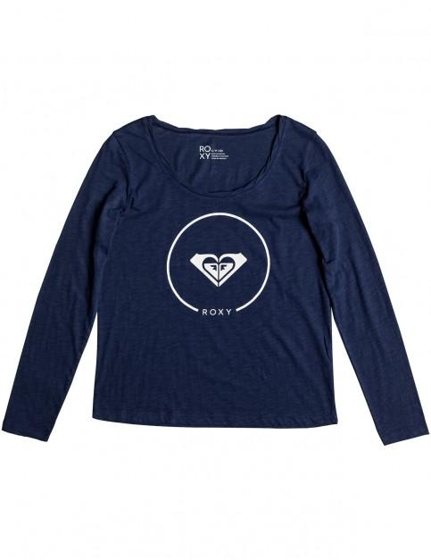 Roxy Twist Essential Long Sleeve T-Shirt in Dress Blues