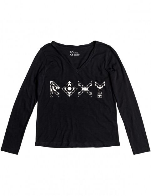Roxy V Twist Paradise Long Sleeve T-Shirt in Anthracite