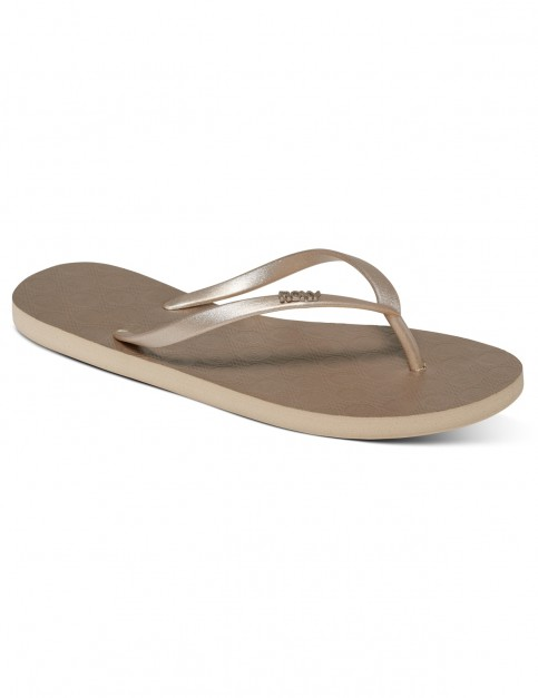 Roxy Viva IV Flip Flops in Gold