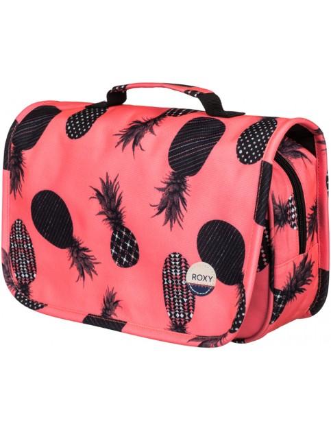 Roxy Waveform Vanity Wash Bag in AX Neon Grapefruit Pineapple Dots