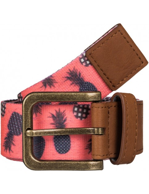Roxy Webbing Spot Webbing Belt in AX Neon Grapefruit Pineapple Dots