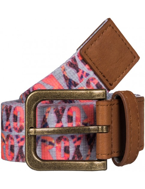 Roxy Webbing Spot Webbing Belt in AX Heritage Heather Liquid Lettering
