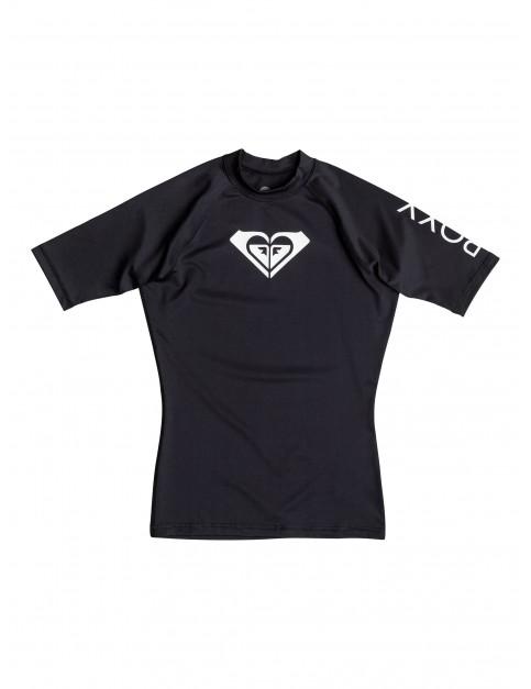 Black Roxy Whole Hearted Short Sleeve Rash Vest