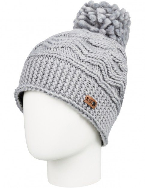 Roxy Winter Bobble Hat in Warm Heather Grey