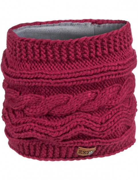 Roxy Winter Collar Neck Warmer in Beet Red