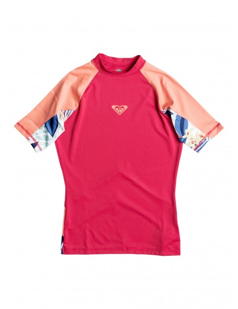 Roxy XY Short Sleeve Rash Vest in Tomato Red