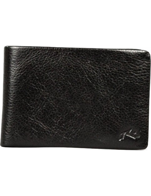 Rusty Bust Leather Wallet in Black