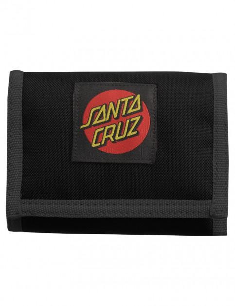 Black Santa Cruz Classic Dot Polyester Wallet