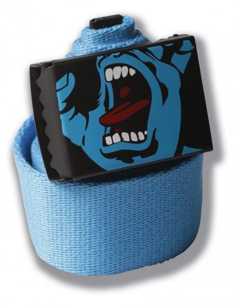 Blue Santa Cruz Screaming Hand Webbing Belt