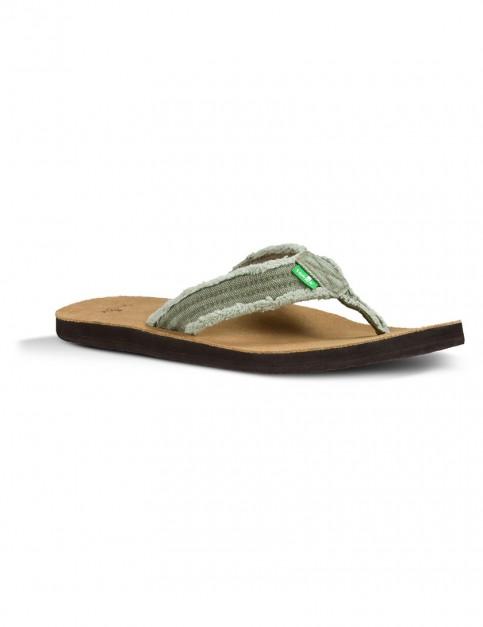 Sanuk Fraid Not Flip Flops in Olive