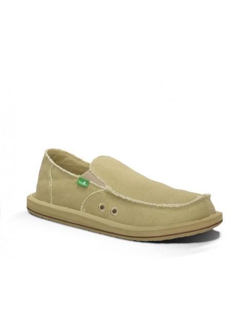 Sanuk Vagabond Deck Shoes in Khaki