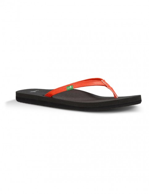 Sanuk Yoga Mat Yoga Joy Flip Flops in Flame