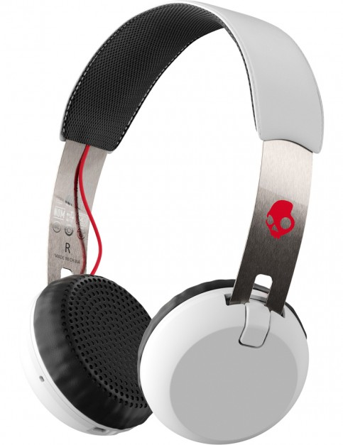 Skullcandy Grind Wireless Headphones in White/Black/Red