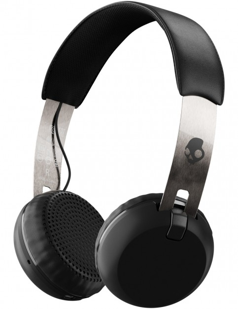 Skullcandy Grind Wireless Headphones in Black/Chrome/Black
