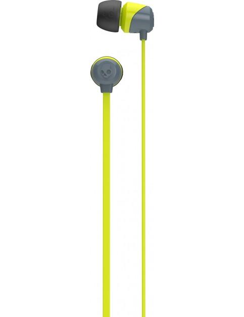Skullcandy JIB Earbud Headphones in Gray/Hot Lime/Hot Lime