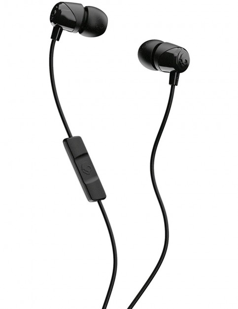 Skullcandy JIB w/mic Earbud Headphones in Black/Black/Black