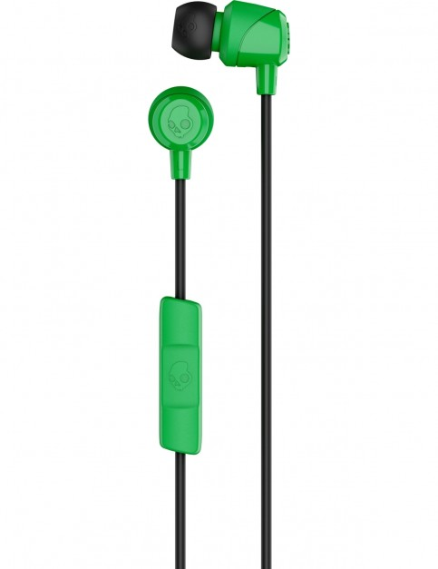 Skullcandy JIB w/mic Earbud Headphones in Green/Black/Green