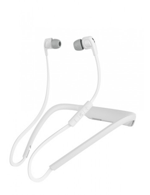 Skullcandy Smokin Buds 2 Wireless Headphones in White/White/Chrome