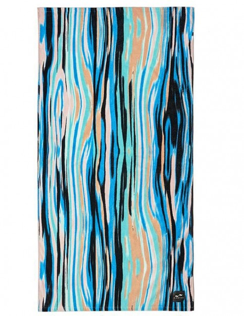 Slowtide Chatter Beach Towel in Turquoise