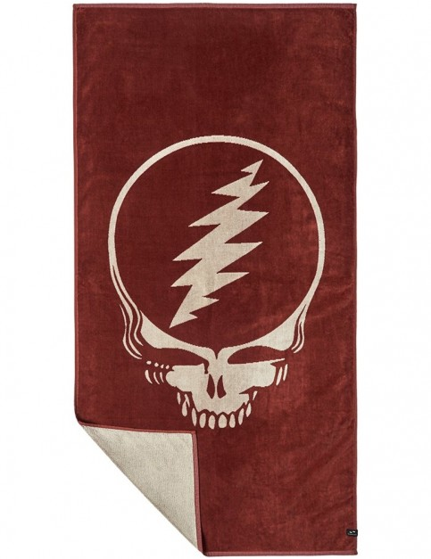 Slowtide Grateful Shred Beach Towel in Burgundy