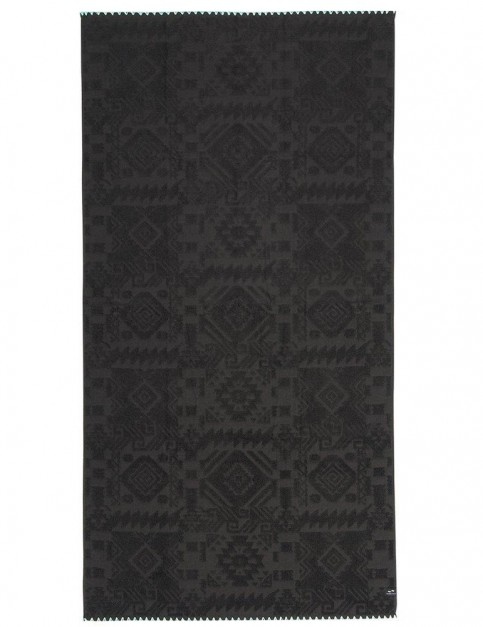 Slowtide Greyson Beach Towel in Black