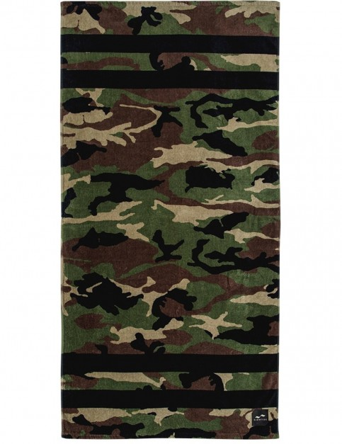 Slowtide Regime Beach Towel in Army