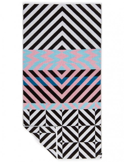 Slowtide Riot Beach Towel in Black/Pink