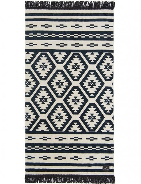 Slowtide Taos Beach Towel in Black/Off White