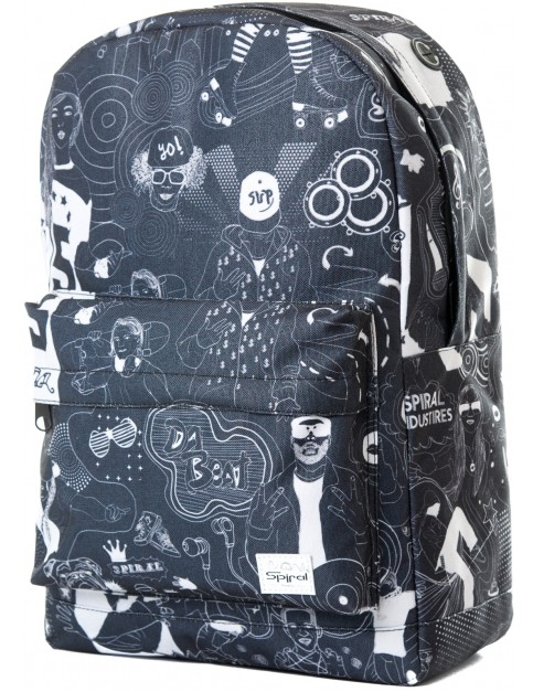 Spiral Beats Black Backpack in Black