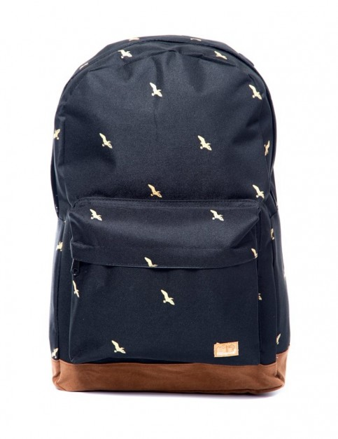 Spiral Bird Backpack in Black