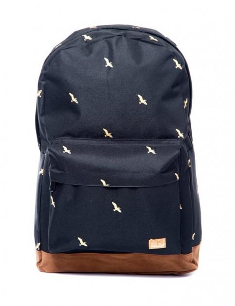 Spiral Bird Backpack in Black