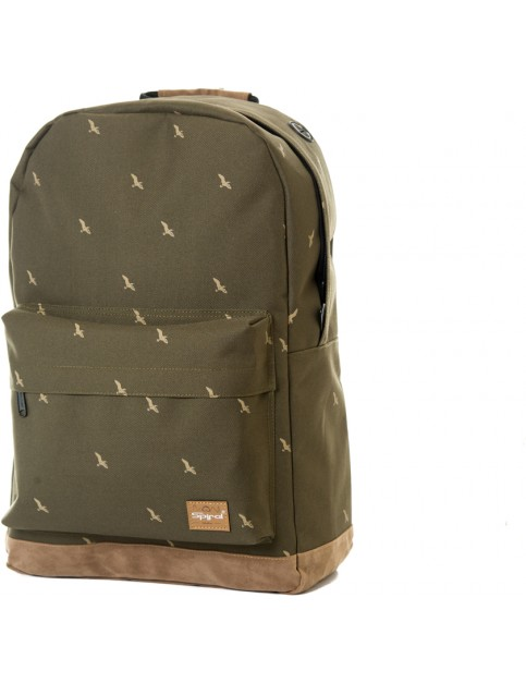 Spiral Bird Backpack in Olive