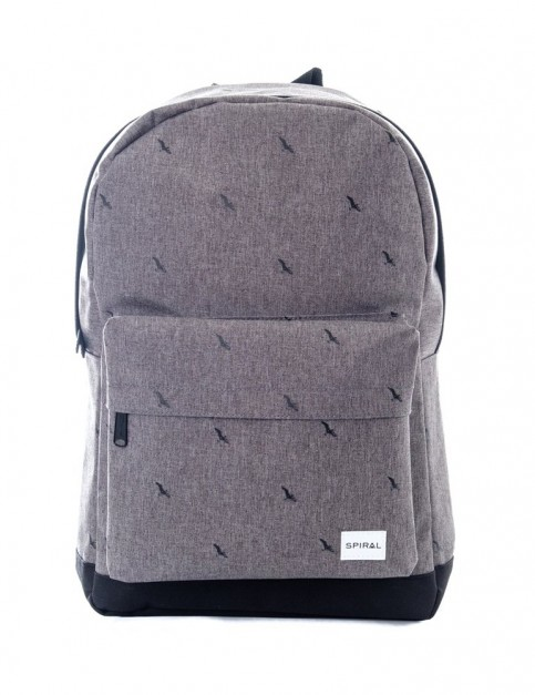 Spiral Bird Crosshatch Backpack in Charcoal