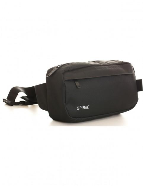 Spiral Blackout Cross Body Bag in Black