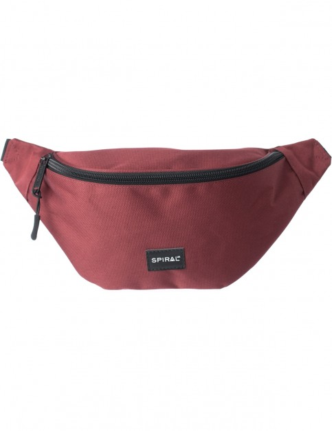 Spiral Burgundy Core Bum Bag in Burgundy