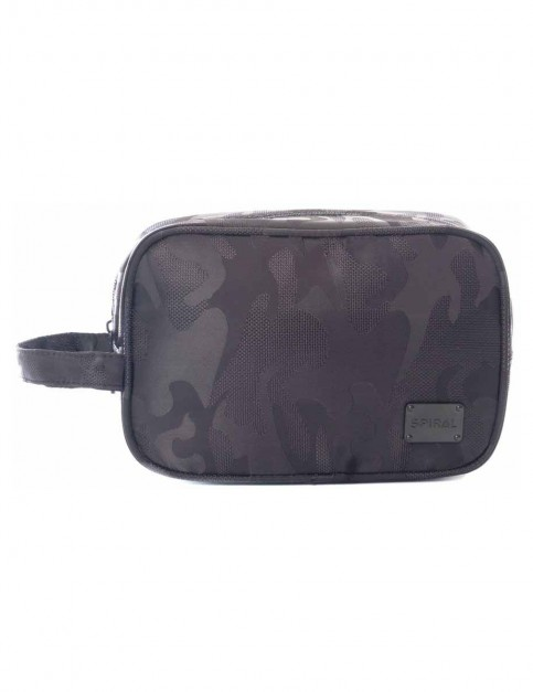 Spiral Camo Blackout Wash Bag
