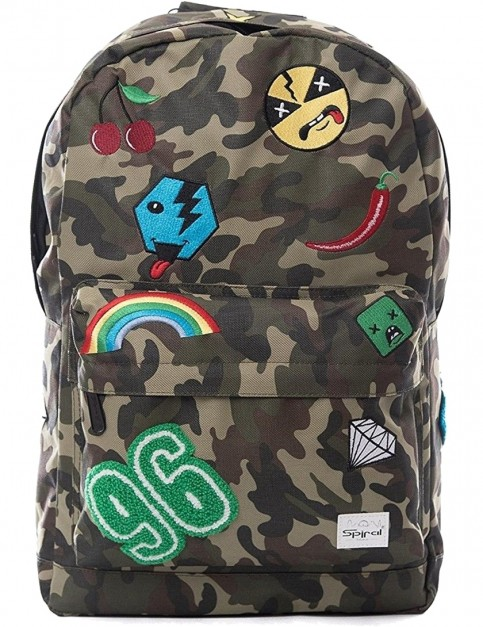 Spiral Camo Jungle Patch Backpack in Camo