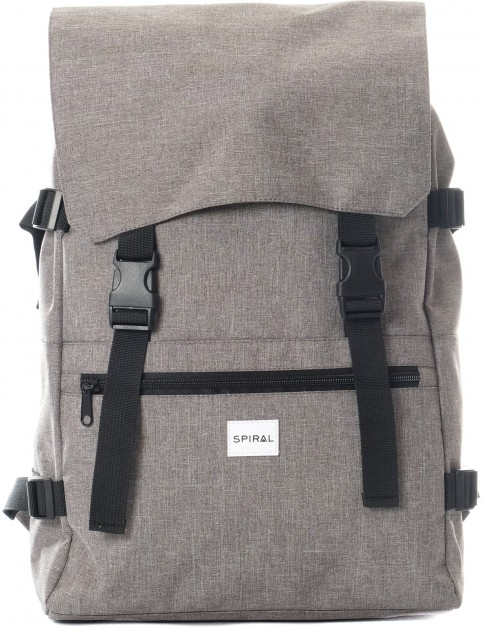 Spiral Crosshatch Backpack in Grey
