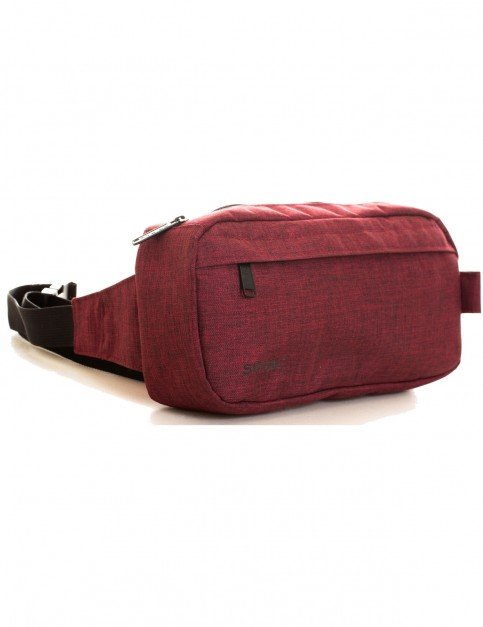 Spiral Crosshatch Cross Body Bag in Burgundy