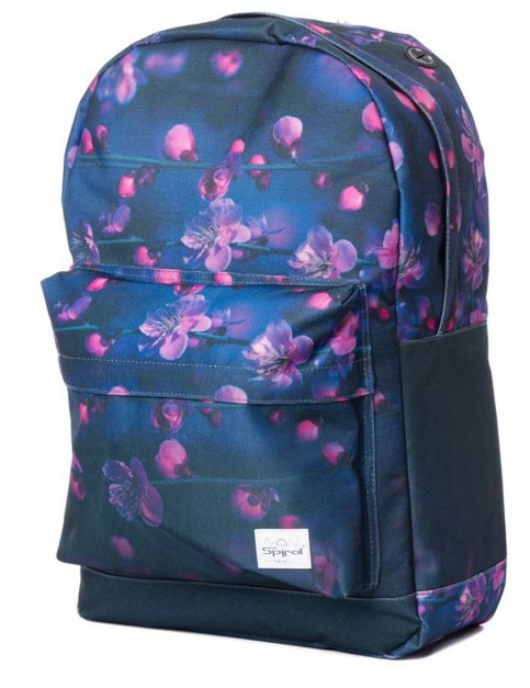 Blue Spiral Faded Night Backpack