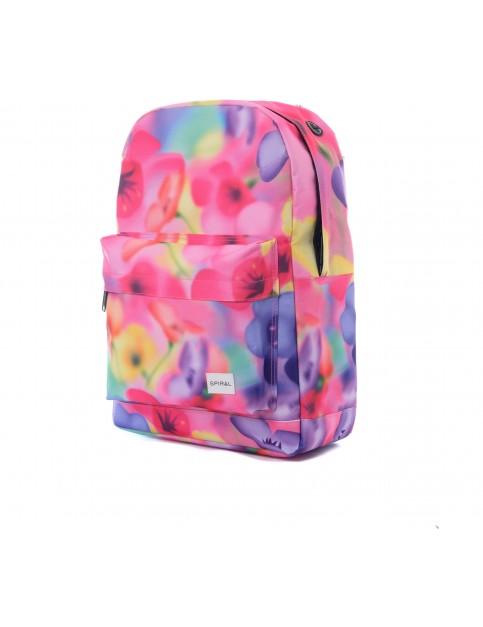 Spiral Florescent Floral Backpack
