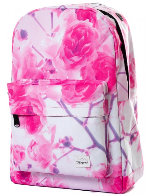 Spiral Forever Roses Backpack in Pink