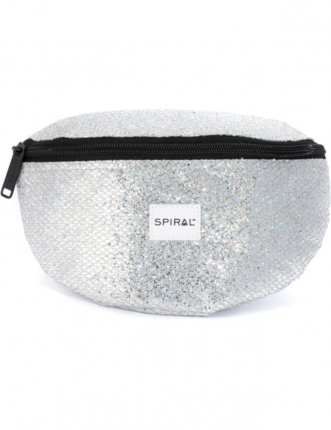 Spiral Glamour Bum Bag in Silver