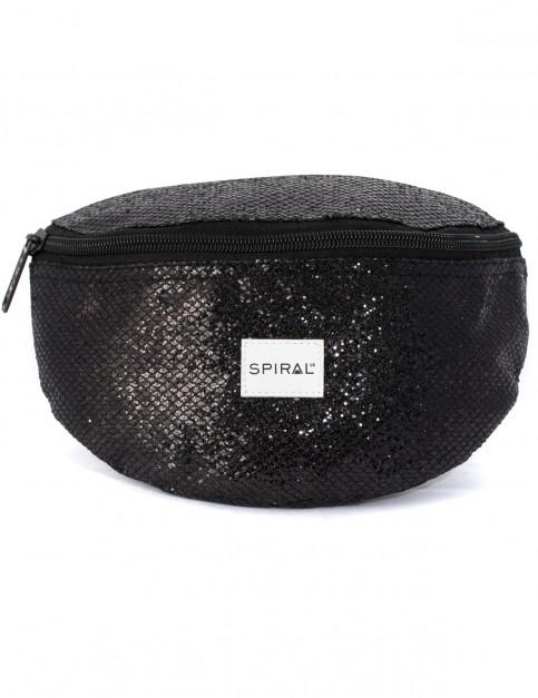 Spiral Glamour Bumbag Bum Bag in Black