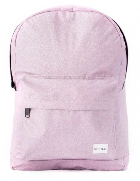 Spiral Glitter Backpack in Lilac Ice
