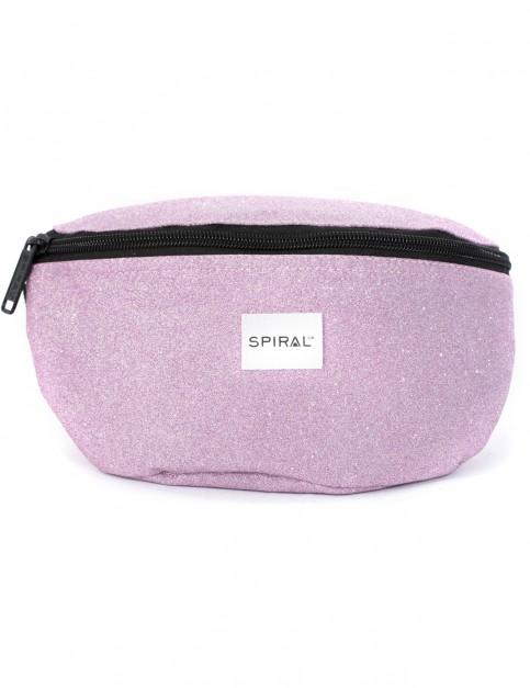 Spiral Glitter Bum Bag in Lilac
