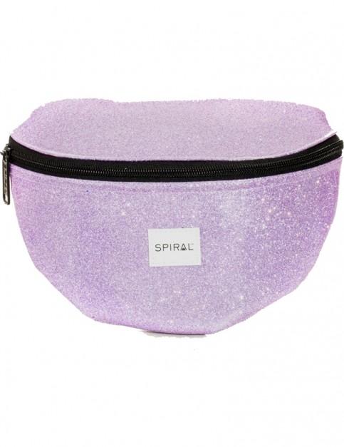 Spiral Glitter Jelly Bum Bag in Purple