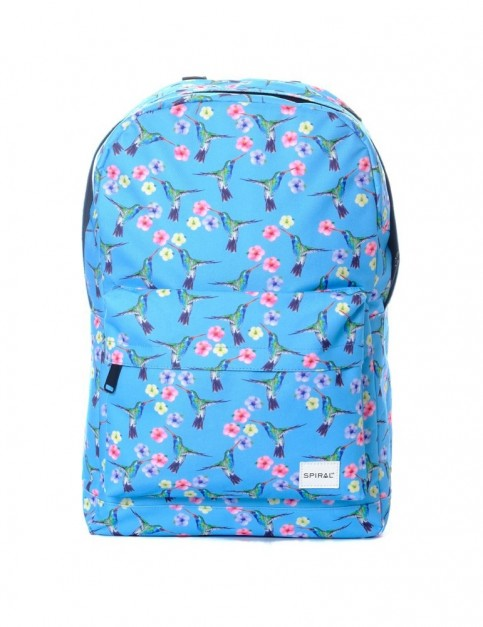 Spiral Hummingbird Backpack Backpack in Blue